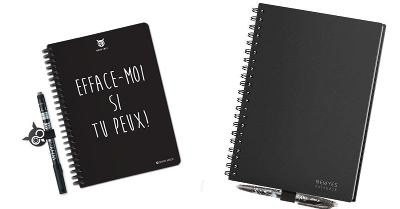 cahier note effacable